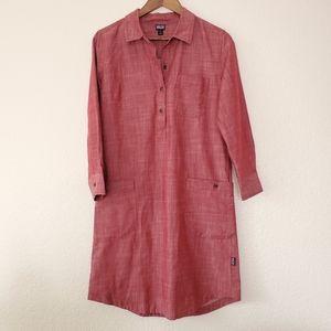 Pink patagonia Women's Rocky Peak Shirt Dress